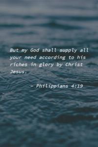 Abundantly Supplied by God