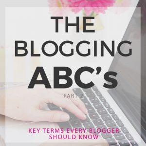 The Beginner Blogger's A-Z Blogging Vocabulary Guide