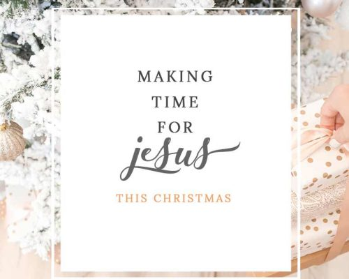 Are You Making Room to Spend Time with Jesus